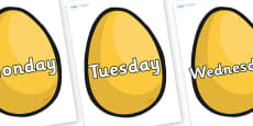 Days of the Week on Golden Egg