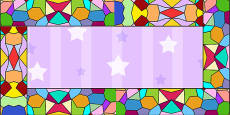 Stained Glass Window Display Border