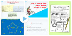 Recognise Some Different Forms of Poetry Calligrams Lesson Teaching Pack