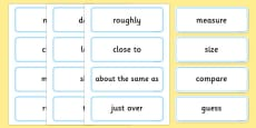 Maths Measures Shape and Space Word Cards