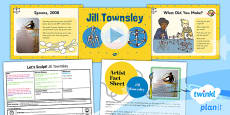 PlanIt - Art KS1 - Let's Sculpt Lesson 4: Jill Townsley Lesson Pack
