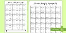 Ultimate KS1 Bridging Through Ten Activity Sheet
