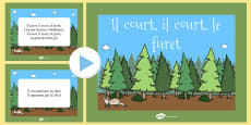 Il Court, Il Court, Le Furet Nursery Rhyme PowerPoint French