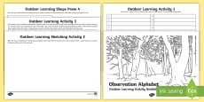 Observation Alphabet Outdoor Learning Creative Writing Activity Booklet