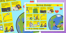 Saving Energy Poster
