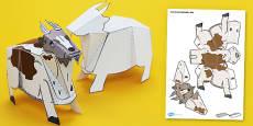 Farm Animal Paper Model Goat
