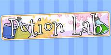 Potion Lab Display Banner