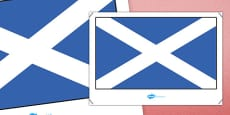 Scotland Flag Display Poster