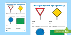 Investigating Road Sign Symmetry Activity Sheet