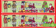 What Did You Get for Christmas? Banner