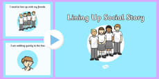 Lining Up Social Story PowerPoint