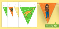 Bunting to Support Teaching on Harry and the Bucketful of Dinosaurs