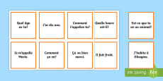 * NEW * Question and Answer Matching Cards French