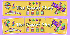 Sweet Shop Role Play Display Banner
