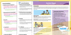 PlanIt - History UKS2 - Ancient Egypt Planning Overview CfE