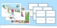 Winter Scenes and Question Cards Pack