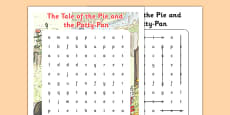 Beatrix Potter - The Tale of the Pie and the Patty Pan Word Search