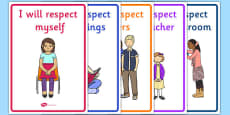 Respect in the Classroom Display Posters