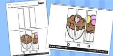 CVC Word Picture Puzzles u