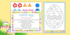 Easter Egg EYFS Interactive Poster and Resource Pack