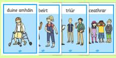 Gaeilge Counting People Display Posters