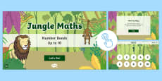 * NEW * Jungle Maths: Number Bonds up to 10 Game