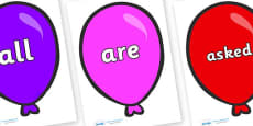 Tricky Words on Party Balloons
