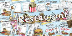 Restaurant Role Play Pack