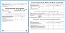 End of KS1 Expectations Tracking Sheet Writing Checklist