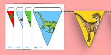 Realistic Dinosaurs Bunting