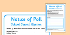 School Council Election Notice of Poll
