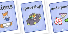 Display Posters to Support Teaching on Aliens Love Underpants
