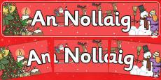 Christmas Display Banner (Irish)