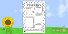 End of School Year Memory Writing Frames English/German