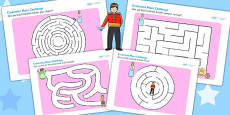 Cinderella Differentiated Maze Activity Sheet Pack