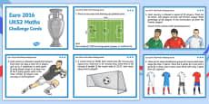 Euro 2016 UKS2 Maths Challenge Cards (European Championships 2016)