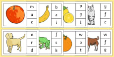 Initial Sounds Peg Matching Game