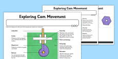 Automata Animals - Differentiated Exploring Cam Movement Activity Sheet
