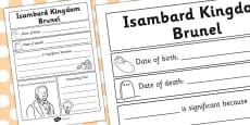 Isambard Kingdom Brunel Significant Individual Writing Frame