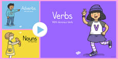 Grammar Gang: Nouns, Adjectives, Adverbs Teaching Pack