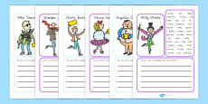Australia - Character Description Writing Frame to Support Teaching on Charlie and the Chocolate Factory