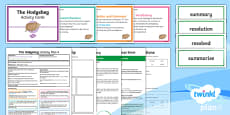Y3 The Hodgeheg: Activity Plan 4 PlanIt Guided Reading Pack to Support Teaching on the Hodgeheg