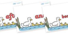 Connectives on Five Little Ducks