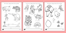 The Grouchy Ladybug Words coloring Sheet