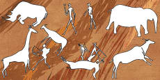 Bushmen Cave Painting Outlines