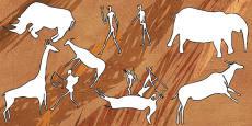 Bushmen Cave Painting Outlines