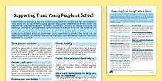 Supporting Trans Young People at School Information Sheet