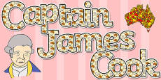 Captain James Cook Display Lettering