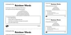 Rainbow Words Activity Sheet