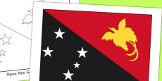Papua New Guinea Flag Display Poster
